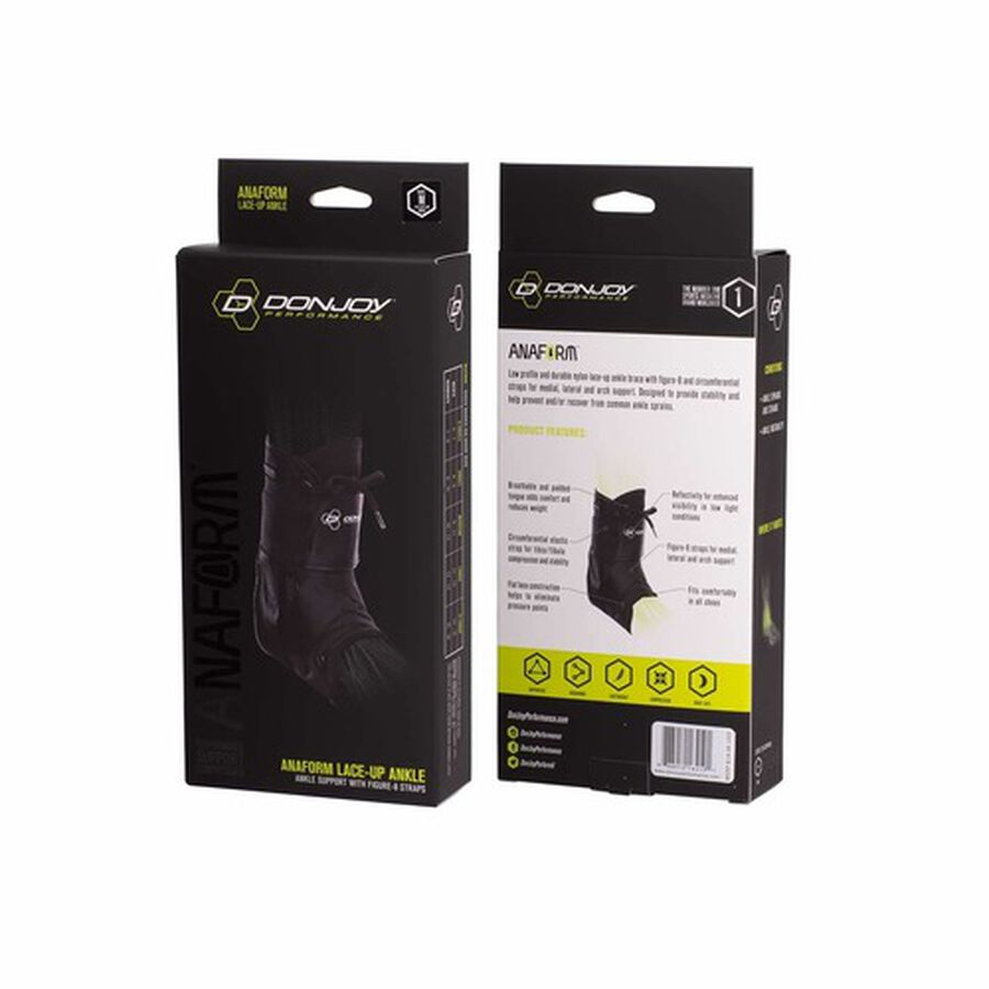 DonJoy Performance ANAFORM Lace-Up Ankle Brace, Black, X-Small, , large image number 4