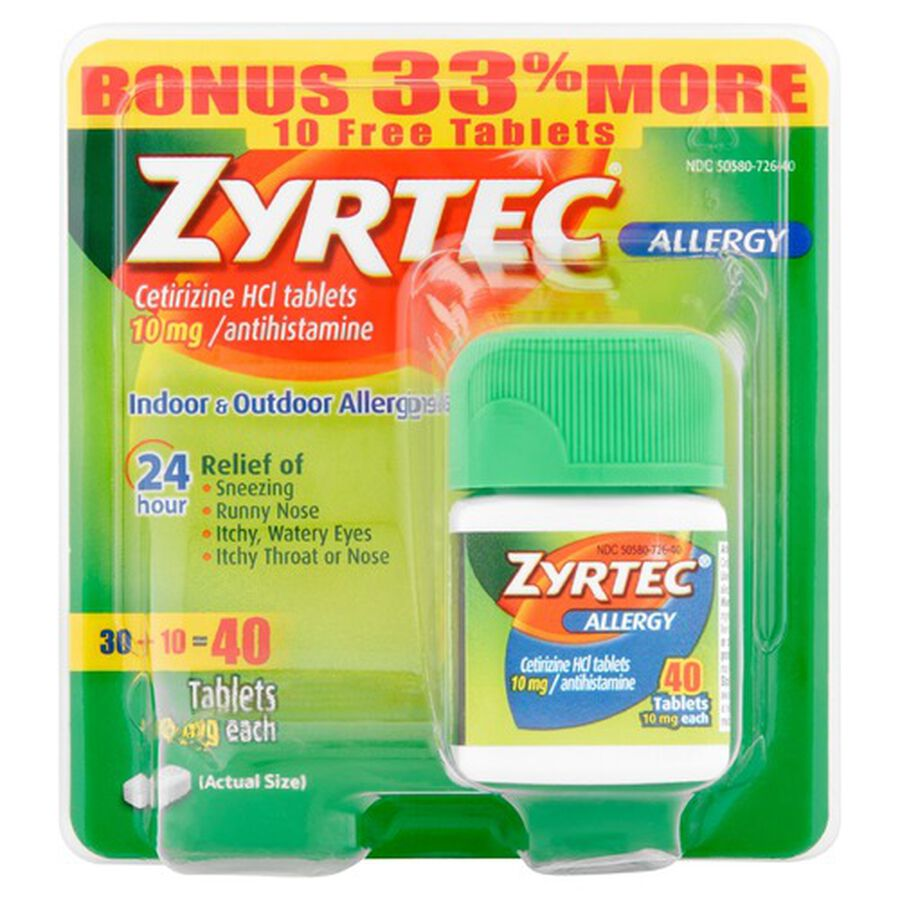 Zyrtec Adult Allergy Relief Tablets, 10mg, , large image number 2