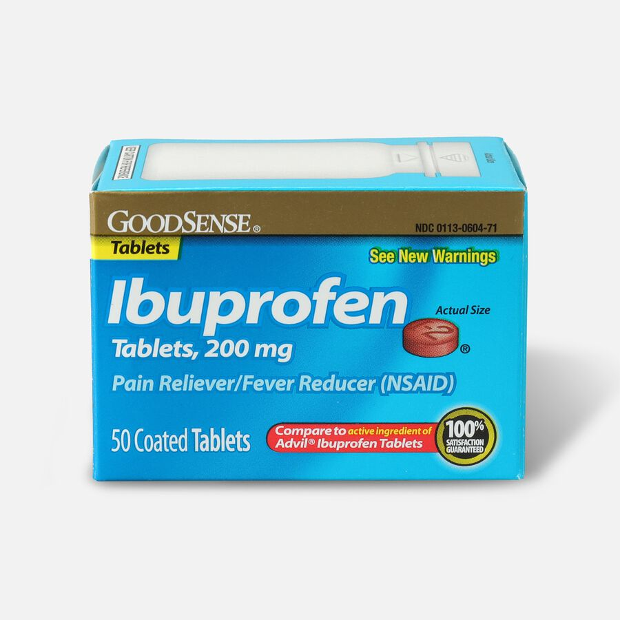 GoodSense® Ibuprofen Coated Tablets 200 mg, Pain Reliever & Fever Reducer, , large image number 1