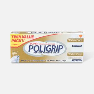 Super Poligrip Extra Care Zinc Free Denture Adhesive Cream - Twin Pack