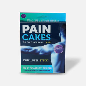 "PainCakes Stick & Stay Cold Packs, 5"", Purple"