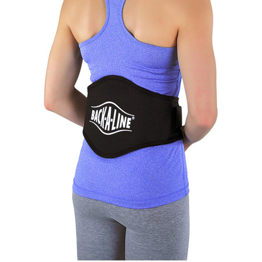 Back-A-Line Back Support with Lumbar Pad, Xtra Large, Black, , large image number 3