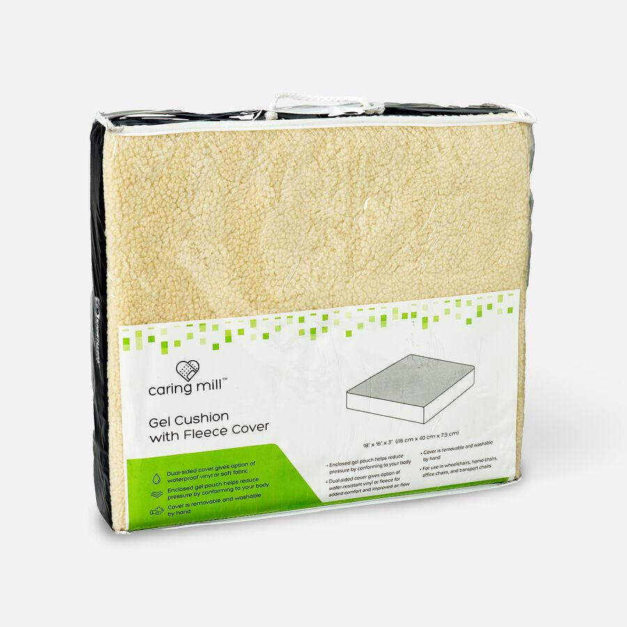 """Caring Mill™ Gel Cushion with Fleece Cover – 18"""" x 16"""" x 3"""", , large image number 1"""