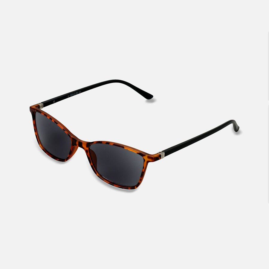 Sunglass Reader with Smoke Tint, Matte Demi, , large image number 1