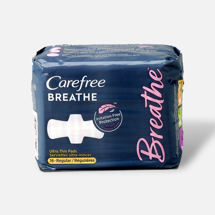 Carefree Breathe Ultra Thin Regular Pads with Wings, , large image number 1