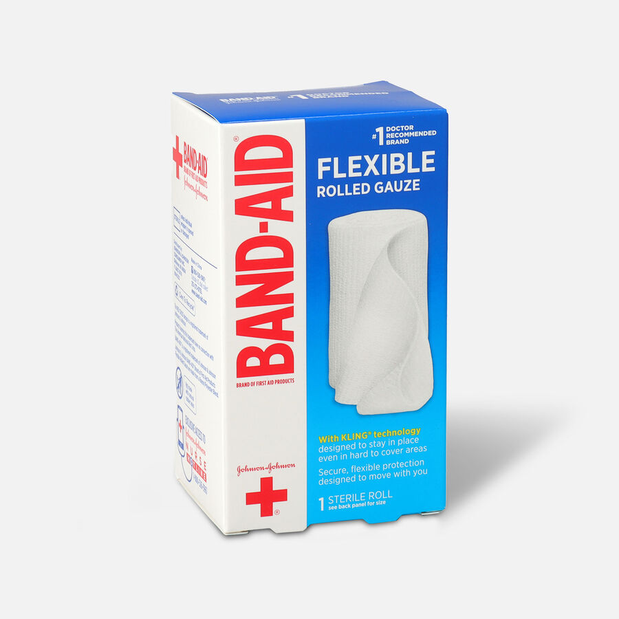 Band Aid First Aid Products Secure Gauze Roll and Wound Care Dressing, 3 in x 2.5 yd, , large image number 2