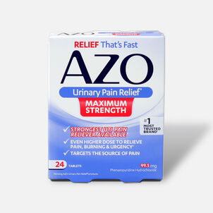 AZO Urinary Pain Relief Maximum Strength Tablets, 24 ct