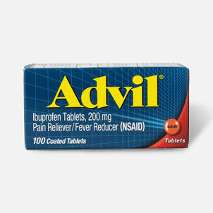 Advil Pain Reliever Fever Reducer Tablets, 100 ct