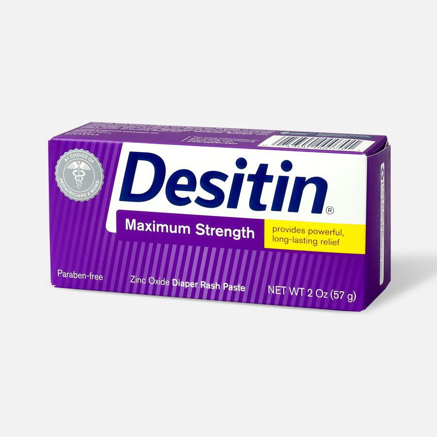 Desitin Maximum Strength Zinc Oxide Diaper Rash Paste, , large image number 6