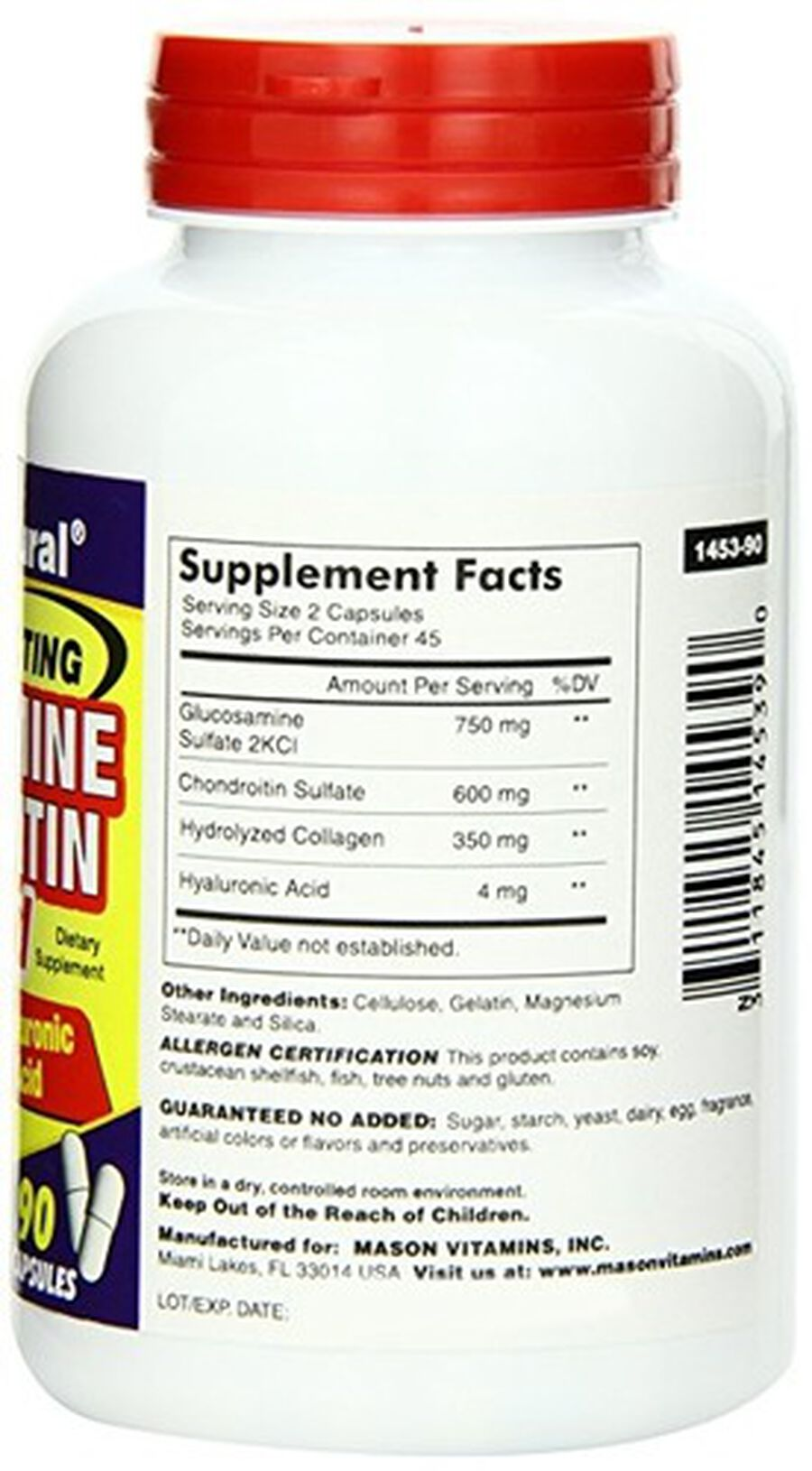 Mason Natural Glucosamine Chondroitin Advance with Collagen & Hyaluronic Acid, Capsules 90 ea, , large image number 2