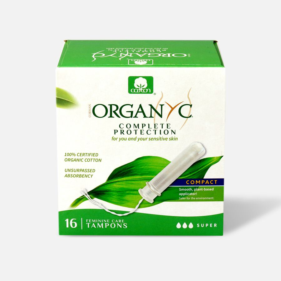 Organyc Compact Tampons with Eco-Applicator, 16ct, , large image number 2