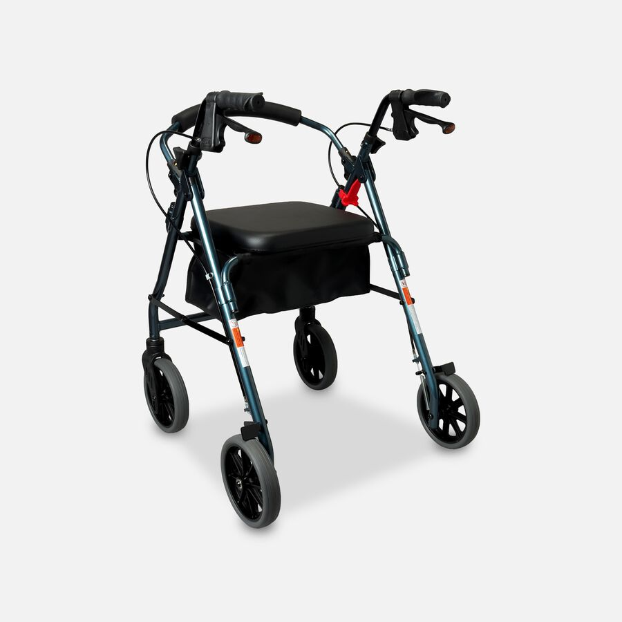 Nova Four Wheel Padded Rollator, Blue , , large image number 0