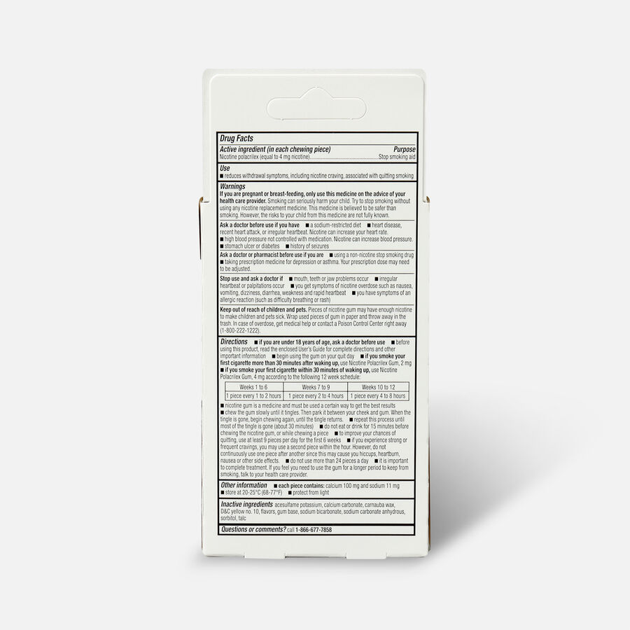 GoodSense® Nicotine Polacrilex Gum 4 mg Original Uncoated, , large image number 1