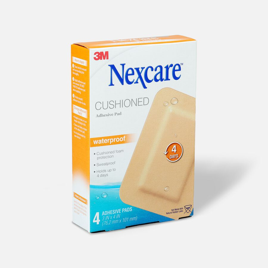 """Nexcare Absolute Waterproof Adhesive Pads, 3"""" x 4"""" - 4ct, , large image number 2"""