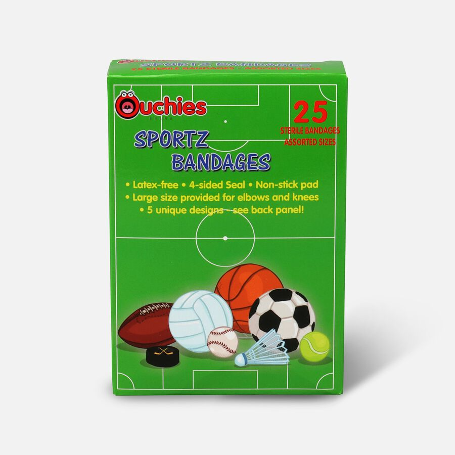 Ouchies Sportz Bandages for Kids, 25 ct, , large image number 0
