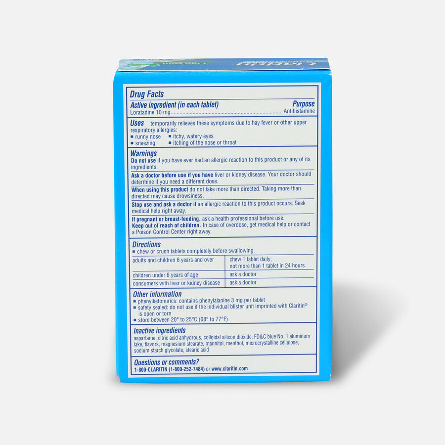 Claritin Allergy Cool Mint Chewables, 24 Count, , large image number 1