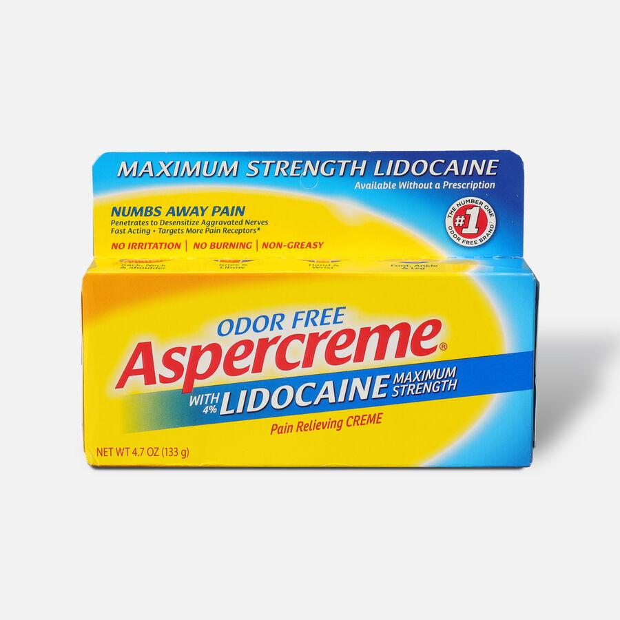 Aspercreme Creme with Lidocaine, 4.7 oz., , large image number 0