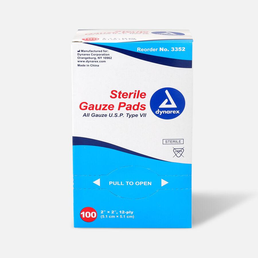 Dynarex Sterile Gauze Pads,12 ply - 100ct, , large image number 2