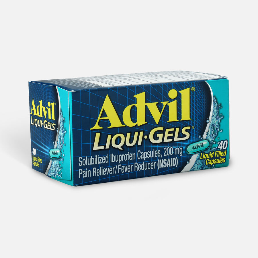 Advil Pain Reliever Fever Reducer Liqui-Gels, 40 ct, , large image number 2