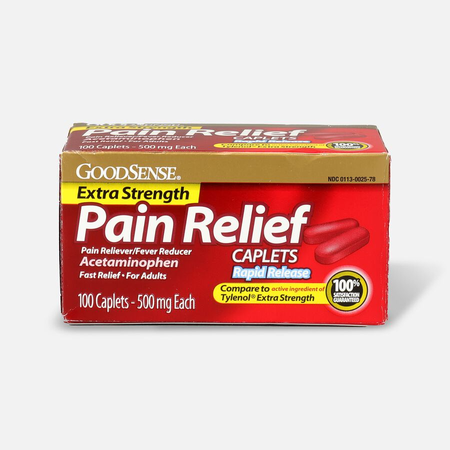 GoodSense® Pain Relief Extra Strength 500 mg Rapid Release Caplets, , large image number 0