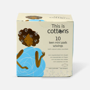 Cottons Teen Pads with Wings, 10ct