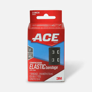 Ace Elastic Bandage with Clips - Black