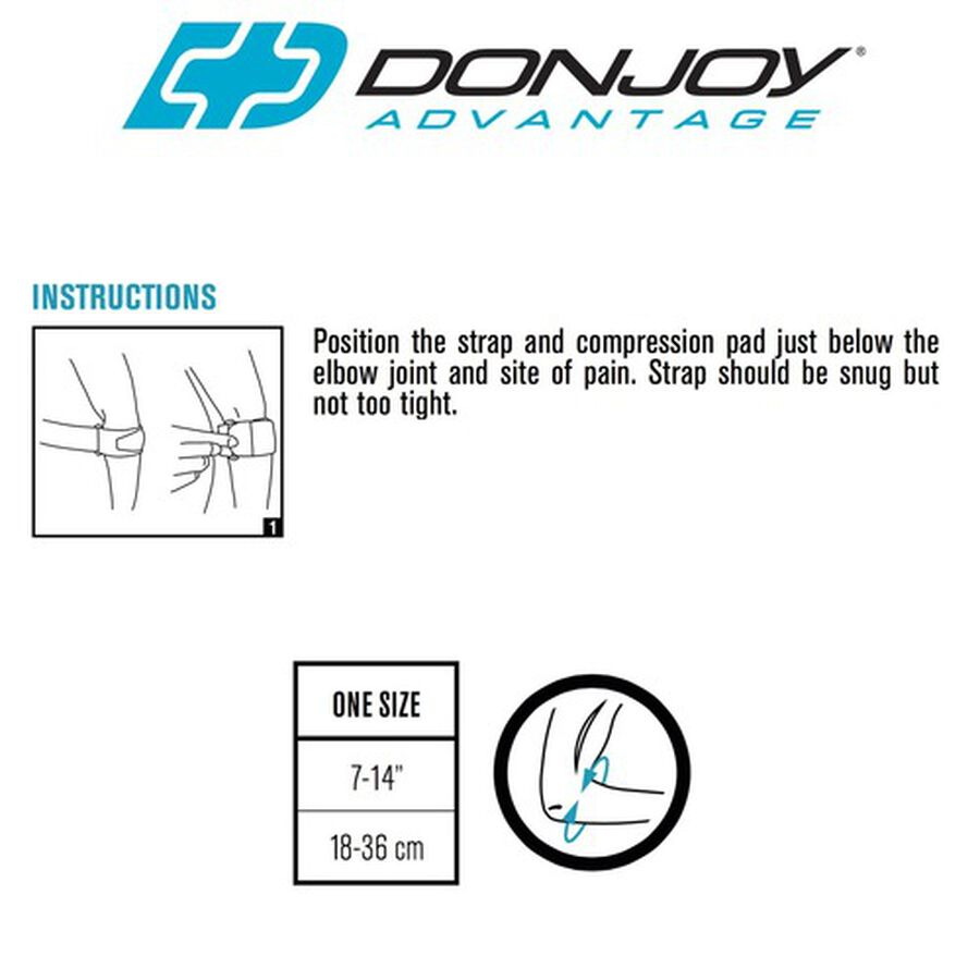 DonJoy Advantage Golf/Tennis Elbow, One Size, , large image number 2