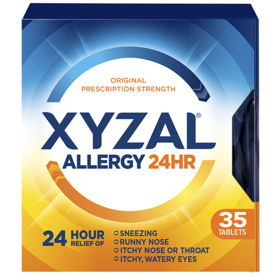 Xyzal Allergy 24 HR Tablets, 35 ct, , large image number 0
