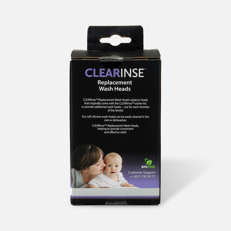 CLEARinse Nasal Cleaning Aspirator Replacement Wash Heads, 2-Pack, , large image number 1
