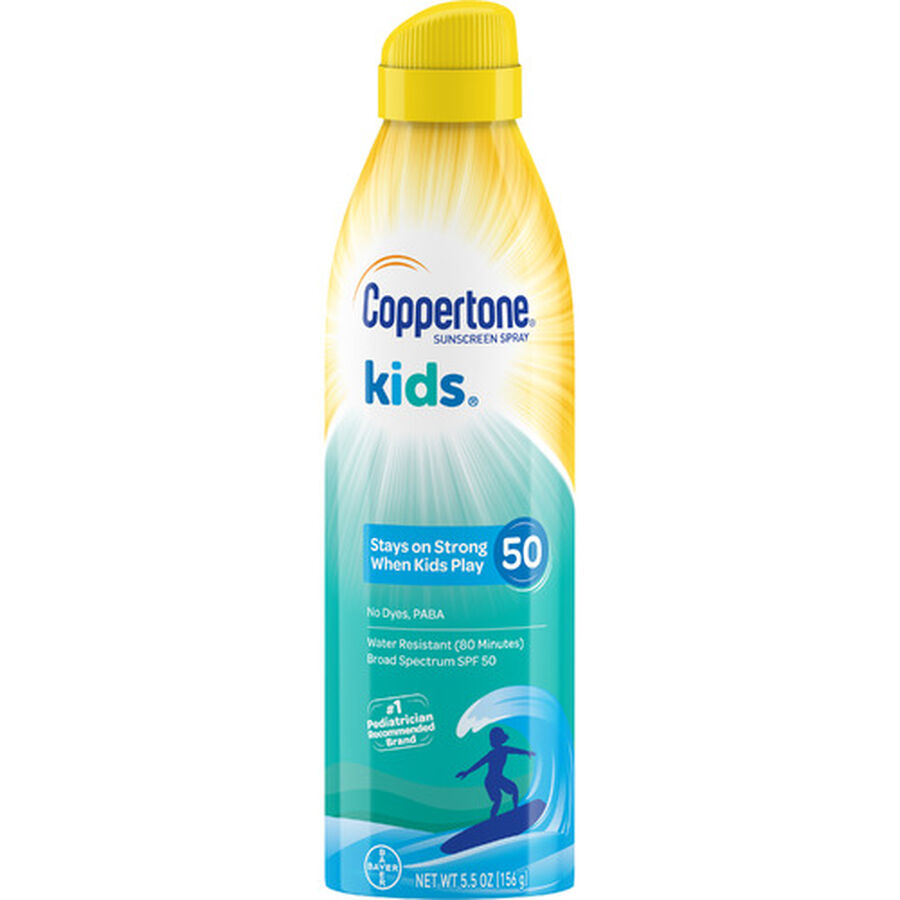 Coppertone Kids Continuous Spray SPF 50, 5.5 oz, , large image number 0