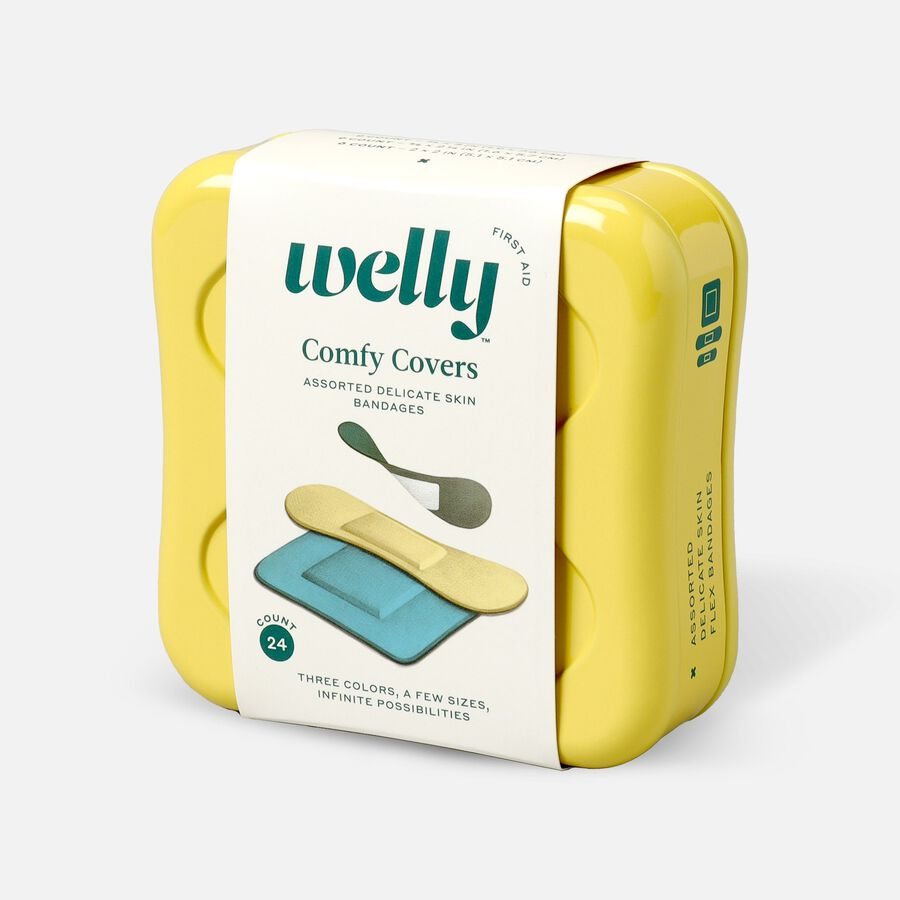 Welly Comfy Covers Assorted Delicate Skin Bandages - 24ct, , large image number 2