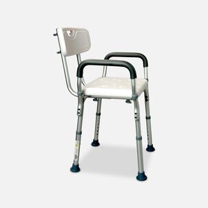 Essential Medical Deluxe Molded Shower Bench with Arms and Back