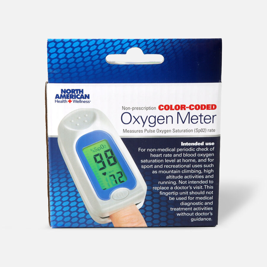 Jobar Color Coded Fingertip Pulse Oxygen Meter, , large image number 0