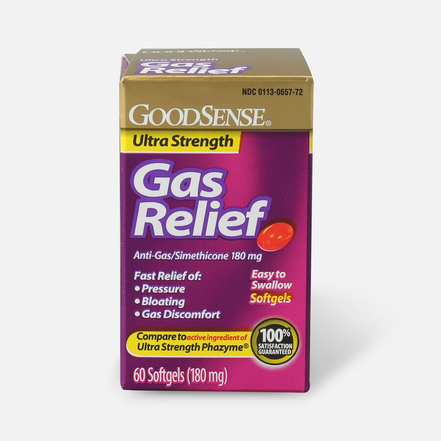 GoodSense® Gas Relief Ultra Strength Simethicone 180 mg Softgels, 60 ct, , large image number 0