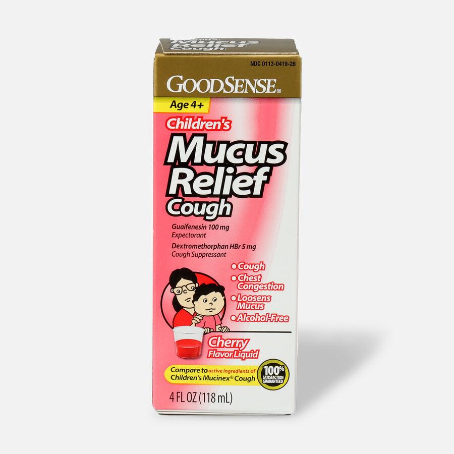 GoodSense® Children's Mucus Relief Cough Cherry Flavor, 4 fl oz, , large image number 0