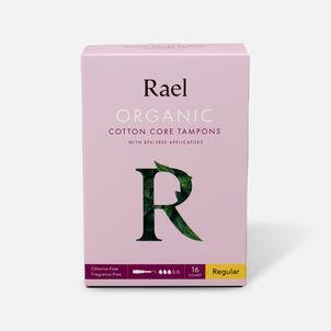 Rael Organic Cotton Core Tampons with BPA-Free Applicators - Regular, 16ct
