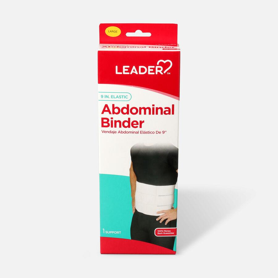 "Leader Abdominal Binder 9"", White, Large, , large image number 0"
