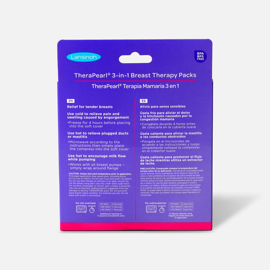 Lansinoh TheraPearl 3-in-1 Hot or Cold Breast Therapy, , large image number 1