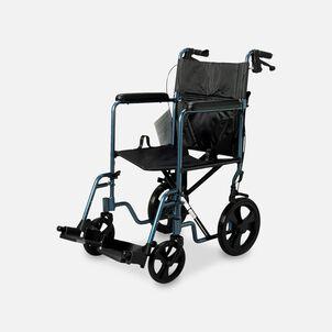 Nova Lightweight Transport Chair with Hand Brakes, Blue