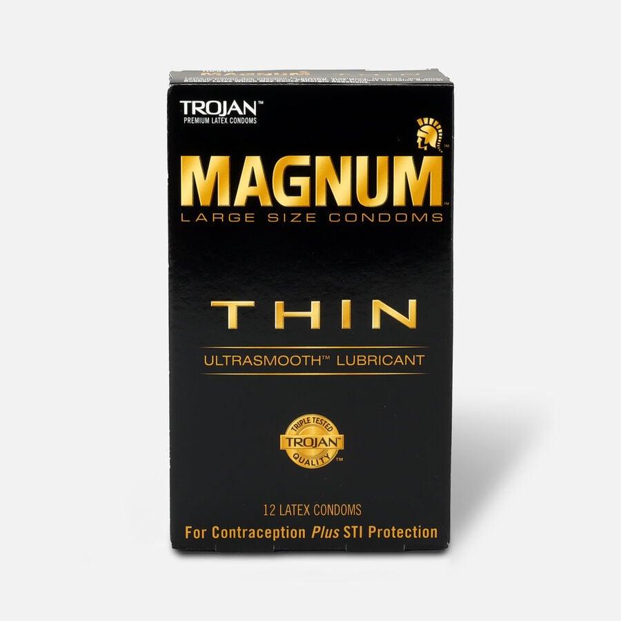 Trojan Condoms Magnum Lubricated Latex Thin, Large 12 ea, , large image number 0