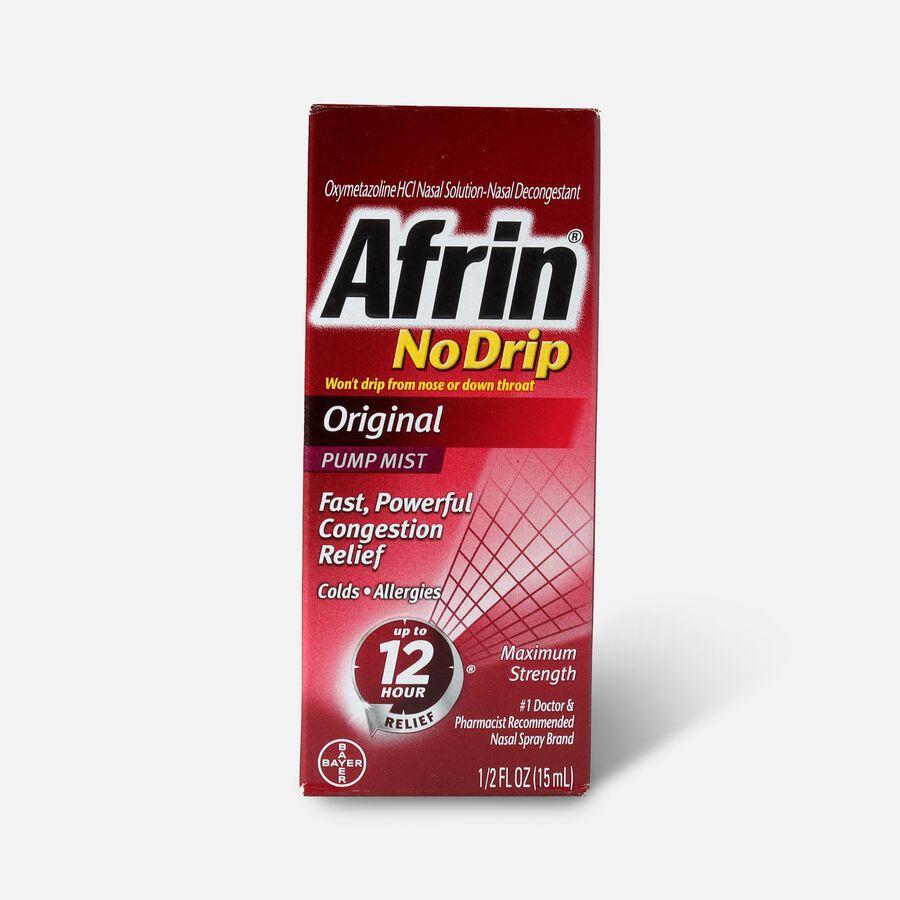 Afrin No Drip Original Nasal Spray, 0.5 oz, , large image number 0