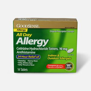 GoodSense® All Day Allergy Relief, Cetirizine HCl Tablets 10 mg