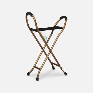 "Alex Orthopedic Quad Seat Cane 6"" x 14-1/2"" Seat"