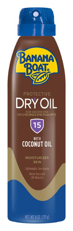 Banana Boat Dry Oil Clear Sunscreen Spray SPF 15, 6oz.