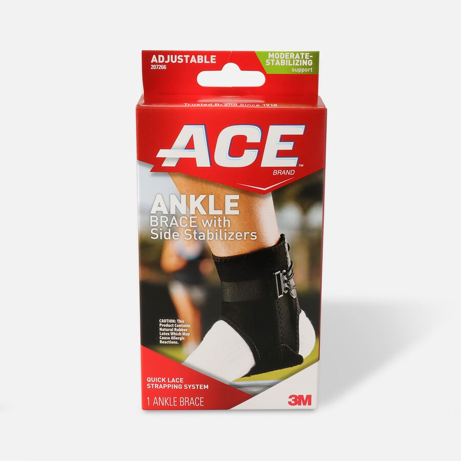 Ace Ankle Brace with Side Stabilizers, One Size, , large image number 0