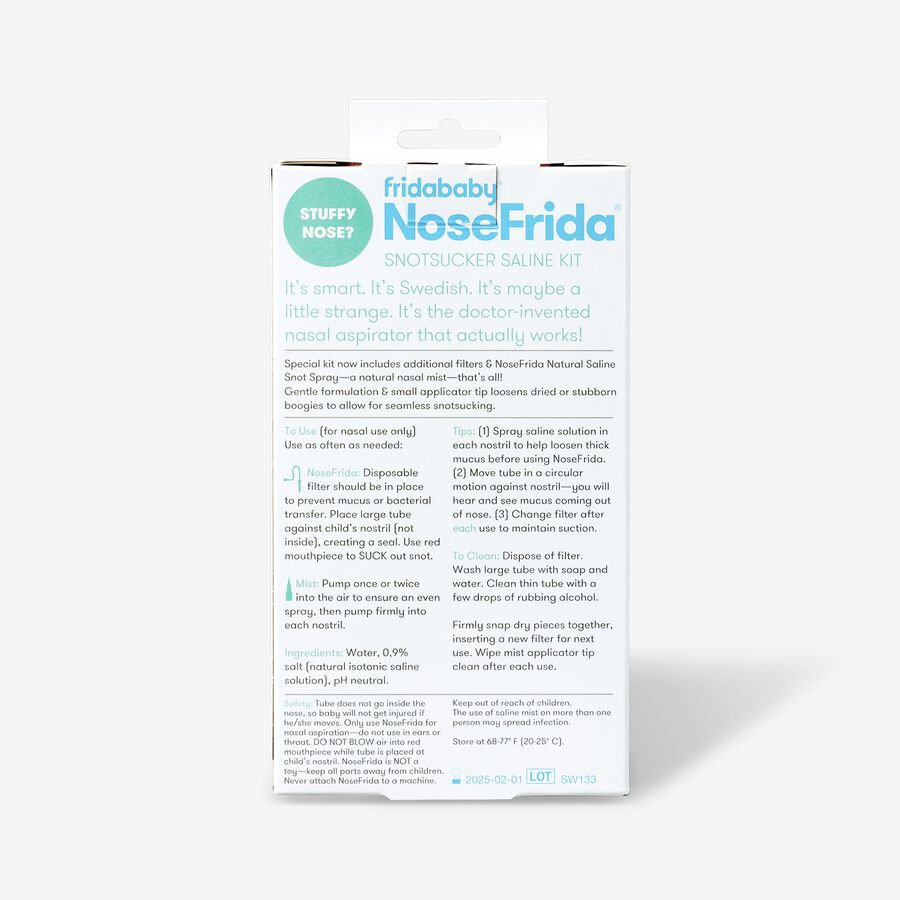 Fridababy NoseFrida The Snotsucker Saline Kit, , large image number 1