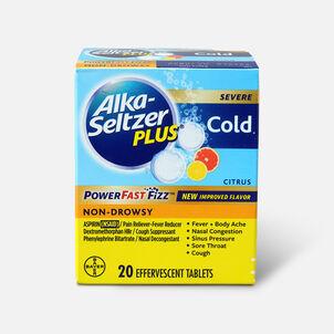 Alka-Seltzer Plus Severe Cold Powerfast Fizz Effervescent Tablets, Citrus, 20 Count