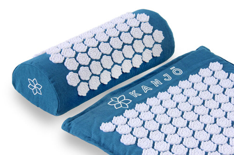 Kanjo Memory Acupressure Mat Set with Pillow, Sapphire, , large image number 4