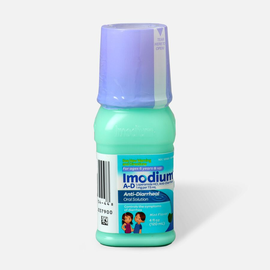 Imodium A-D Children's Anti-Diarrheal Liquid, Mint Flavor, 4 fl oz, , large image number 0