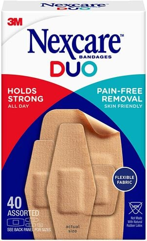 Nexcare DUO Bandage, Assorted, 40ct